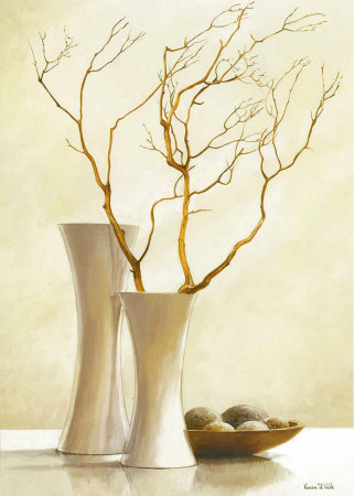 Willow Twigs I Poster by Karin Valk