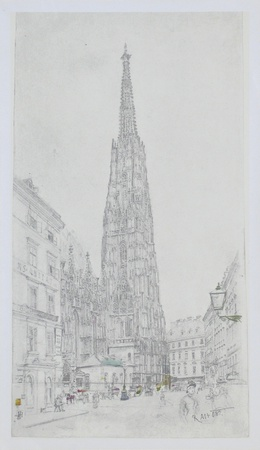 Cathedral St Stephan in Vienna Collectable Print by Rudolph von Alt