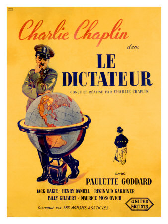 Chaplin le Dictateur Giclee Print by Pierre Bouvry