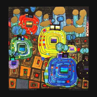 Pavilions and Bungalows for Natives and Foreigners Prints by Friedensreich Hundertwasser