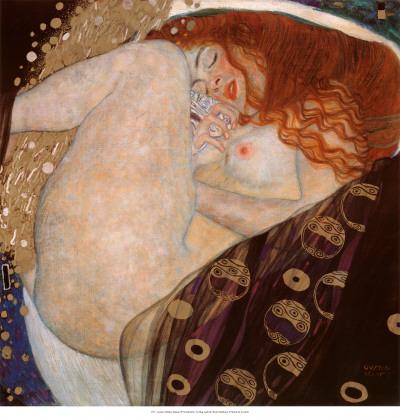 Danae Poster by Gustav Klimt