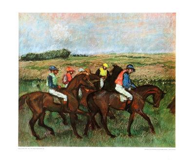 Jockeys at Training Collectable Print by Edgar Degas