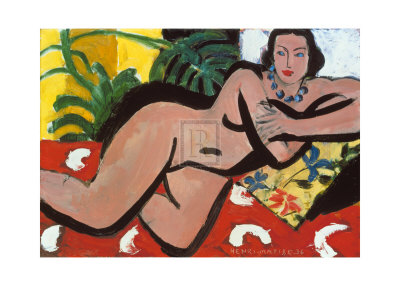 Nude with Palms, c.1936 Prints by Henri Matisse