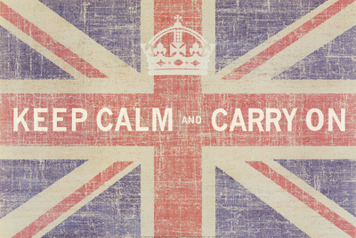 Keep Calm and Carry On (Union Jack) Lámina