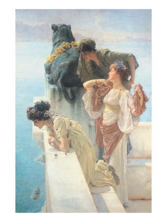 A Coign of Vantage Art by Sir Lawrence Alma-Tadema