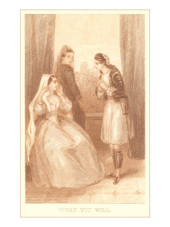 Scene from Twelfth Night Gicleetryck