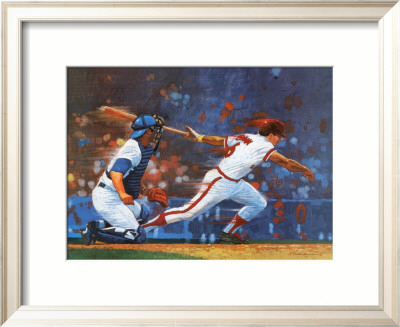 Knocking 'Em Home Framed Art Print
