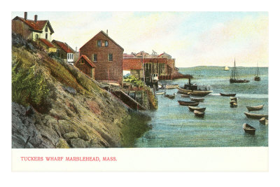 Tuckers Wharf, Marblehead, Mass. Premium Poster