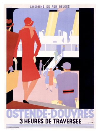 Ostende-Douvres Giclee Print by Leo Marfurt