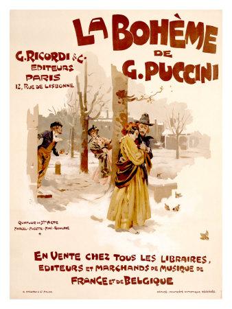 La Boheme Giclee Print by Adolfo Hohenstein