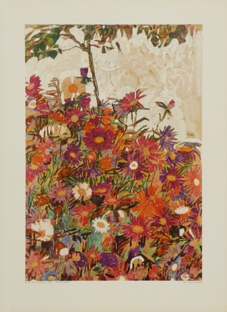 Floral Field Collectable Print by Egon Schiele