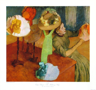 The Millinery Shop, 1879/86 Collectable Print by Edgar Degas