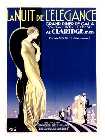 Nuit Elegance Giclee Print by Emilio Vila