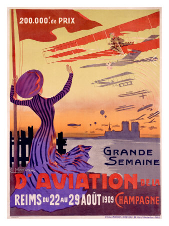 Grande Semaine d'Aviation Giclee Print by Ernest Montaut