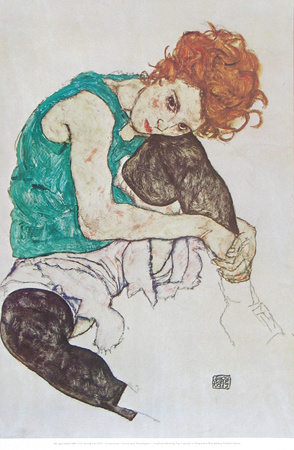 Sitting Woman Prints by Egon Schiele