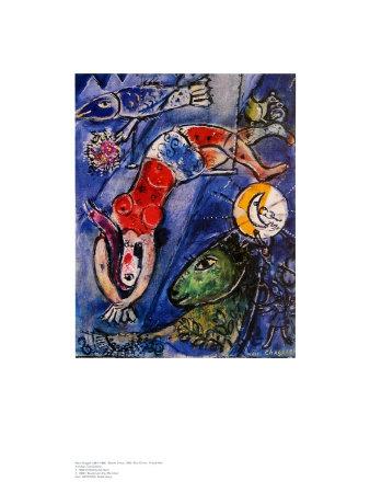 Blue Circus ポスター : マルク・シャガール