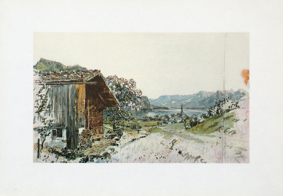 St. Gilgen at the Lake Wolfgangsee, Salzkammergut Collectable Print by Rudolph von Alt