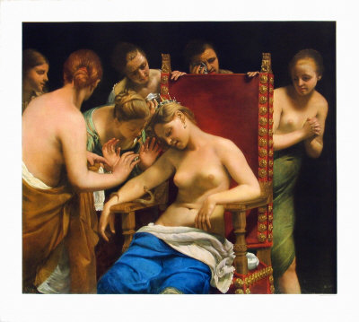 Death of Cleopatra Collectable Print by Guido Cagnacci