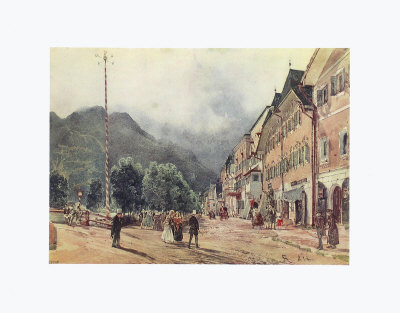The Esplanade in Bad Ischl Collectable Print by Rudolph von Alt
