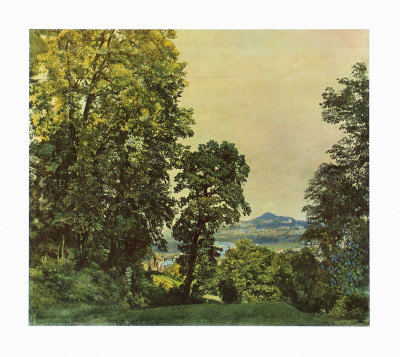 On the Moenchsberg Near Salzburg Collectable Print by Rudolph von Alt