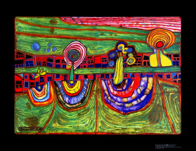 Downtownlane, c.1971 Posters by Friedensreich Hundertwasser