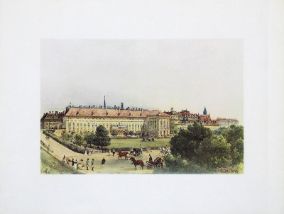 Old Castle and Bellaria in Vienna Collectable Print by Rudolph von Alt