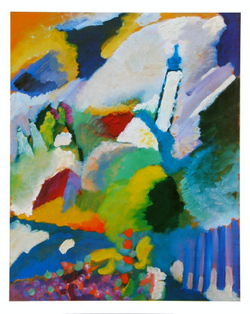 The Church in Murnau abstract artwork by Wassily Kandinsky