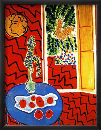 Henri matisse affiches sur for Interieur rouge matisse