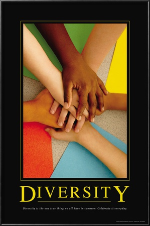Diversity Lamina Framed Poster