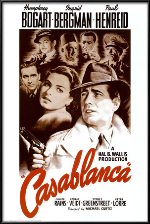 Casablanca Lamina Framed Poster