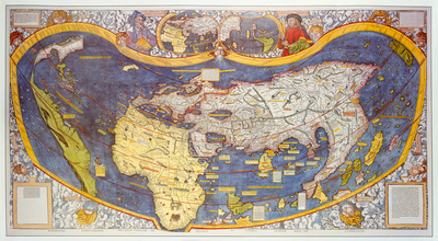 Universalis Cosmographia Secundum Ptholomei Triditionem... [1507] Premium Giclee Print by Martin Waldsemuller