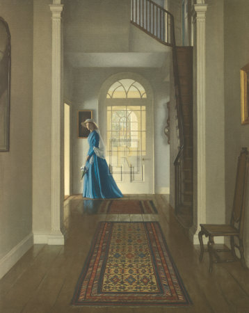 The Hall, June Morning Premium Giclee Print by Leonard Campbell Taylor