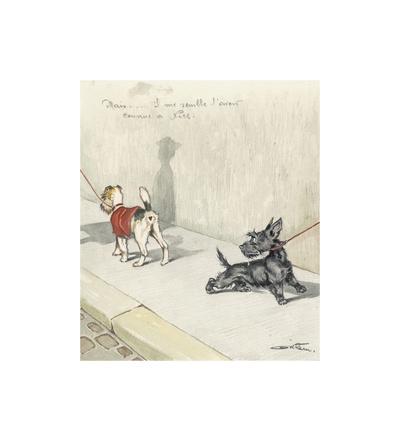 Mais Il Me Semble L'avait Comme A Nice Premium Giclee Print by Boris O'Klein