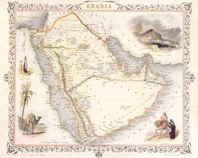 Arabia, 1851 Premium Giclee Print by John Tallis
