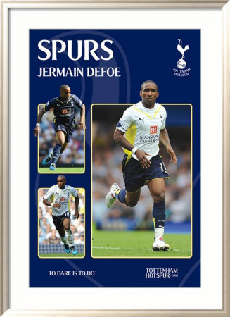 Tottenham Hotspur - Defoe Gerahmtes Poster