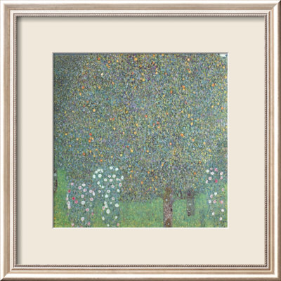 Roses under the Trees Framed Art Print