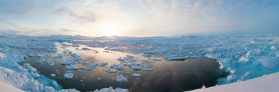 Ice Floes in the Sea, Tiniteqilaaq, Sermersooq, Greenland Photographic Print by  Panoramic Images