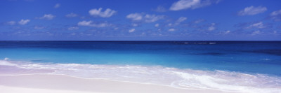 Waves on the Beach, Shoal Bay Beach, Anguilla Fotografisk tryk af Panoramic Images,