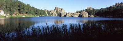 Trees around Lake, Sylvan Lake, Black Hills, Custer State Park, Custer County, South Dakota, USA Photographic Print by  Panoramic Images