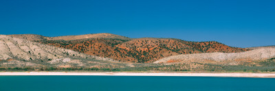 Lake in Front of Rolling Hills, Manti, Sanpete County, Utah, USA Photographic Print by  Panoramic Images