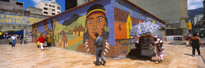 Mural on a Wall, La Hoyada, Caracas, Venezuela Photographic Print by  Panoramic Images