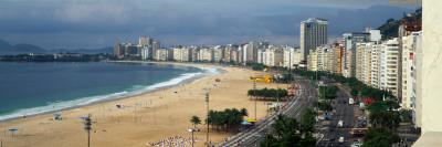 Copacabana Beach Rio De Janerio Brazil South America Photographic Print by  Panoramic Images