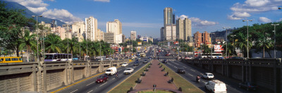 Traffic on Roads, Caracas, Venezuela Photographic Print by  Panoramic Images