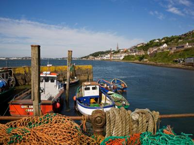 Fishing Harbour at the Pilot Boast Qauy, Cobh, County Cork, Ireland Photographic Print