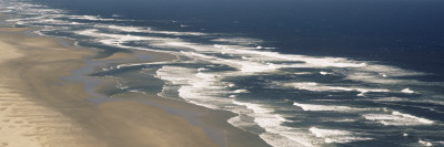 Waves on the Beach, Florence, Lane County, Oregon, USA Photographic Print by  Panoramic Images