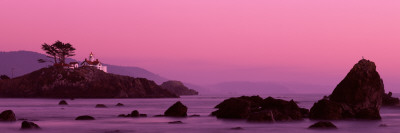 Lighthouse on a Cliff, Crescent City, California, USA Photographic Print by  Panoramic Images