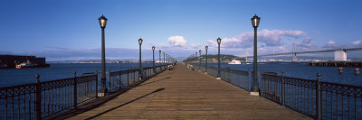 Lamppost on a Pier, Pier 7, San Francisco, California, USA Photographic Print by  Panoramic Images