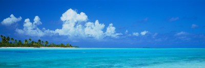 Island in the Ocean, Polynesia Photographic Print by  Panoramic Images