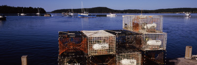 Crab Pots on a Pier, Sand Beach, Acadia National Park, Mount Desert Island, Hancock County, Maine,  Photographic Print by  Panoramic Images