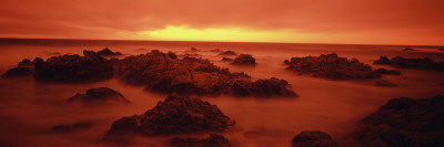 Foggy Beach at Dusk, Pebble Beach, Monterey County, California, USA Photographic Print by  Panoramic Images